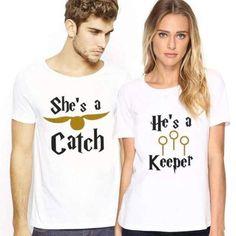 Matching Couple T-Shirt Harry Potter - Women / XXL / White