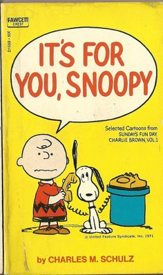1971 Charles Schulz It's For You Snoopy Lucy by TheIDconnection, $15.00