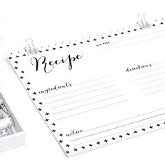 10 different Recipe Cards Printables - Nordic Style - free download