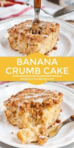 Mar 2020 - For a delicious breakfast idea or after dinner dessert recipe, this ultra moist, buttery, cinnamon spiked Banana Crumb Cake hits the spot. This simple crumb cake recipe can be whipped up quickly and is the perfect brunch recipe for lazy weeke Banana Dessert Recipes, Banana Bread Recipes, Fun Desserts, Moist Banana Cake Recipe, Homemade Crumb Cake Recipe, Recipes For Bananas, Best Crumb Cake Recipe, Desserts With Bananas, Easter Desserts