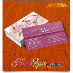 Business Card for Nail Salon. Visit www.NailSpaDesigns.com/catalog for more templates #NailSpaDesigns