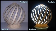 Paper Lamp Spherical Shaped Twist Spiral Conical