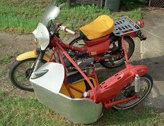 Postie Bike with Sidecar