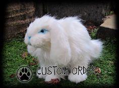 CUSTOM poseable BUNNY RABBIT art doll ooak. by CreaturesofNat, $200.00