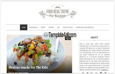 Blogger Templates - Clean Food Blogger Theme #blogger #food #bloggertemplates