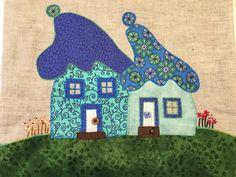 Huse fra Quilt my Design - syet af Jette Karmark Hansen på mit Applikation og Broderi hold hos Speich Design.