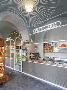 pasticceria siciliana doc si veste di nuovo grazie al progetto degli architetti bolognesi Sara Bergami e Luca Bertacchi.