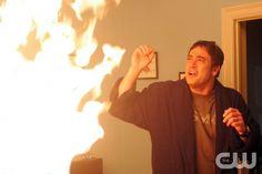 """Supernatural"" Image # SN100-8935 Pictured: Jeffrey Dean Morgan as John Photo Credit: © The WB / Justin Lubin"