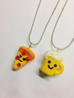 Pizza & Beer BFF Necklaces