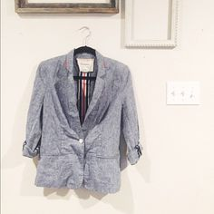 Chambray Blazer from Anthropologie Worn once, great for spring, summer, or fall! Anthropologie Jackets & Coats Blazers
