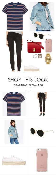 """""""19/07 - w Justin"""" by mrstimberlakexx ❤ liked on Polyvore featuring Yves Saint Laurent, Alexander Wang, Ray-Ban, CÉLINE, Neil Lane and Rolex"""