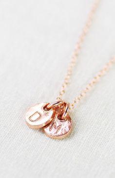 Makana necklace rose gold monogram