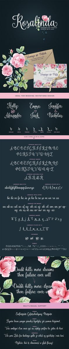 24 Exceptional Quality Fonts | July 2015 | Rosalinda Font by My Creative Land | purchased from Design Cuts