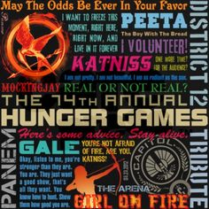 May the odds be ever in your favor...  ect. ect. ect. ect.