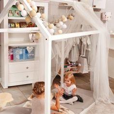 Łóżko domek MOON white