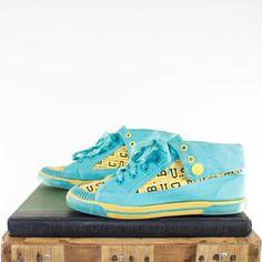 0e8546bb09e6 Vintage 90s Turquoise Sneakers