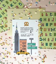 Love this party invite! Alphabet City Theme!  #marispikerstyling #partystyling #alphabet #alphabetparty #abcparty #kidsparty #partyideas #creativepartyinvitations #newyorkcityparty #nyckidsparty #cityparty