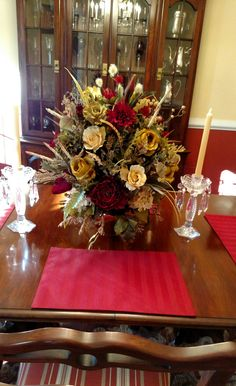 Large Tuscan Silk Winter Arrangement Shipping INCLUDED Elegant Table Mantel Living Room Dining Centerpiece