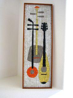 Mid Century Modern Abstract Mosaic Wall Hanging Art 1960s Madmen Panton Eames   eBay