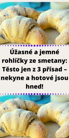 Home Recipes, Cooking Recipes, Czech Recipes, Easy Homemade Recipes, Bellisima, Bagel, Amazing Cakes, Deserts, Food And Drink