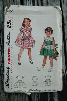 Simplicity 2856 1940s 40s Girls Full Skirt by EleanorMeriwether