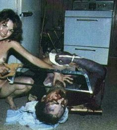 Woman and friend sexually abused and brutally beat her husband till he died. This picture is so crazy.