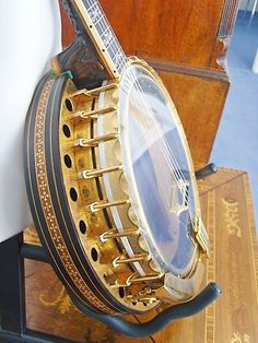 Paragon De Luxe Tenor banjo SOLD Serial No - rosewood construction with ebony fingerboard, very ornate mother of p My Better Half, Banjos, Gumbo, Musical Instruments, I Am Awesome, Beautiful, Art, Projects, Okra