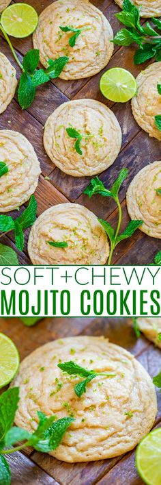Soft and Chewy Mojito Cookies - Averie Cooks Sugar Cookies From Scratch, Soft Sugar Cookies, Vanilla Cookies, Cupcake Cookies, Cookie Favors, Baby Cookies, Flower Cookies, Heart Cookies, Valentine Cookies