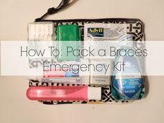Braces: an emergency kit just in case Braces Tips, Kids Braces, Teeth Braces, Braces Food, Dental Hygiene, Dental Care, Braces Problems, Braces Retainer, Getting Braces
