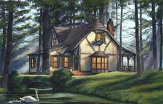 William E Poole Designs - Once Upon A Time - this cottage can be built fast...Imagine having your DreamHome delivered to your site 85% complete within  90 days — It's simply amazing!