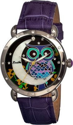 Look at this Purple Owl Ashley Mother-of-Pearl Leather-Strap Watch Purple Owl, Owl Jewelry, Jewlery, Purple Jewelry, Jewelry Box, Purple Leather, Soft Leather, Leather Buckle, Owls
