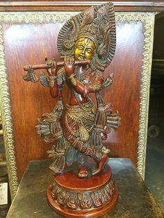 HINDU IDOL GOD KRISHNA BRASS STATUE FIGURINE RED PATINA SCULPTURE 13 INCH | eBay    http://stores.ebay.com/mogulgallery/BRASS-STATUES-/_i.html?_fsub=353416319&_sid=3781319&_trksid=p4634.c0.m322
