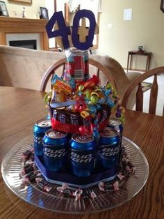 Clever idea for mens birthday cakes Can use any type of alcohol