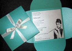 Tiffany Style Bridal Shower Invite....could this be a possible birthday invite…