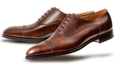 CHIGWELL  SLEEK AND MODERN OXFORD  NEW 2511 LAST  3 ROW STITCHED TOE CAP WITH -  PUNCH DESIGN  parisian brown museum calf