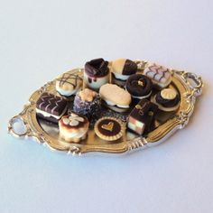 A dozen Chocolate Cakes MerciaMiniatures