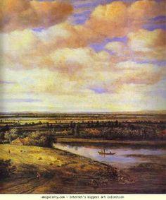 Philips Köninck. Holland Landscape. Detail. 1655. Oil on canvas. Art Museum, Bucharest, Romania.