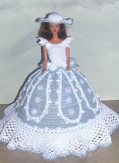 Häkeln Mode Puppe Barbie Pattern - #527 BLUE LACE