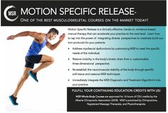 MSR eliminates pain, restores function, and places control back into the hands of your patients. The MSR approach provides you with cutting-edge procedures that you can immediately integrate into your clinical practice. Soft Tissue Injury, Injury Prevention, Integrity, Stability, Clinic, Health Fitness, Therapy, Hands, Events