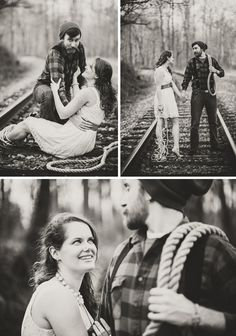 Creative engagement session! The Damsel in Distress! LOVE it! By Petruzzo Photography