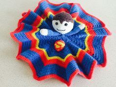 There have been a great interest in my Batman security blanket and some of you have asked for a English version of the Superman security blanket – here you go It is not allowed to sell the pattern. However, it is allowed to sell finished crocheted Superma Crochet Security Blanket, Crochet Lovey, Crochet Geek, Lovey Blanket, Baby Blanket Crochet, Crochet For Kids, Crochet Dolls, Free Crochet, Spiderman Blanket