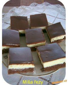 Míša řezy s polevou z ledových kaštanů Cheesecakes, No Bake Cake, Tiramisu, Baking Recipes, Food And Drink, Candy, Chocolate, Cooking, Ethnic Recipes