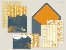 Aspen Mountain Bike Outdoors Wedding Invitations-Aspen/Mountain/Hiking/Biking