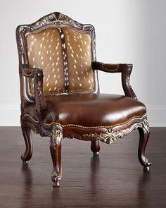 Dani+Hairhide+Leather+Bergere+Chair+by+Massoud+at+Neiman+Marcus.