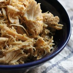 Loads of tasty shredded chicken -- perfect for salads, scrambles, lettuce wraps, and so much more! Whole30 compliant.