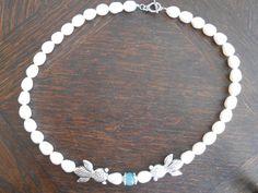 Nostalgie Halskette mit süßwasserperlen von KAWAII auf DaWanda.com