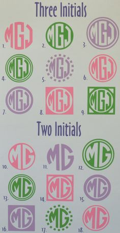 Personalized Monogram Vinyl Car Decal Sticker - Circle Font