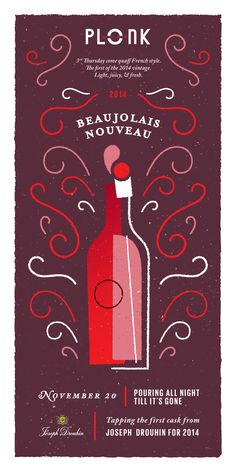 Beaujolais_nouveau_small Prosecco Van, Wine Poster, Wine Logo, Plakat Design, Bar Logo, Wine Design, Tour Posters, Wine Quotes, Banner Vector