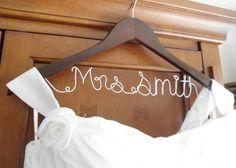 Hanger one Line, personalized Custom Bridal Hanger, Brides Hanger, Name Hanger, Wedding Hanger, Wedding Dress Hanger, Bridal Shower Gift on Etsy, $19.99