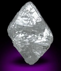 Diamond (10.88 carat light-gray octahedral crystal) from Russia